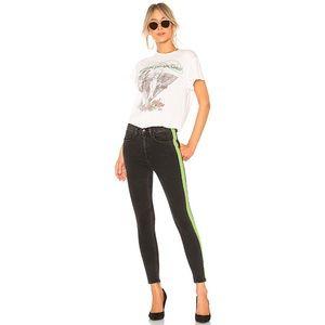 RAG & BONE Mazie Tuxedo Neon Stripe Skinny Jean 26